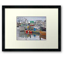 Crowded Harbor Framed Print