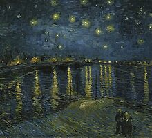 Starry Night Over the Rhone by Van Gogh by TilenHrovatic