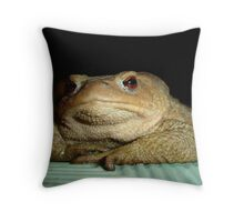 A Common Toad With Philosophical Disposition Throw Pillow