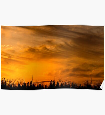 Sunset skyscape Poster