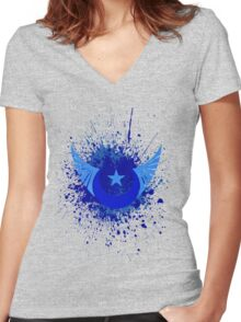 New lunar republic splash Women's Fitted V-Neck T-Shirt