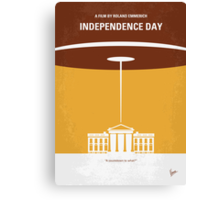 No249 My INDEPENDENCE DAY minimal movie poster Canvas Print