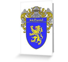 McDaniel Coat of Arms/Family Crest Greeting Card