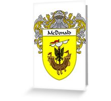 McDonald Coat of Arms/Family Crest Greeting Card