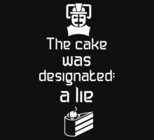 The cake is a lie (Dark background) by escadara