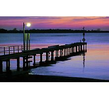 Sunset at Lake King, Metung Photographic Print