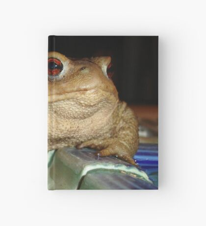 Close Up of A Common European Toad Hardcover Journal