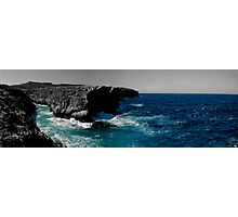 Maltese Cliffs and Rough Sea Panorama - edit Photographic Print