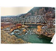 Double Steel Truss Bridge Over The Weber River Poster