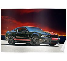 2012 Shelby Mustang GT 500 Poster