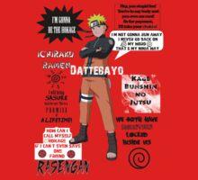 Naruto Uzumaki Quotes Kids Clothes