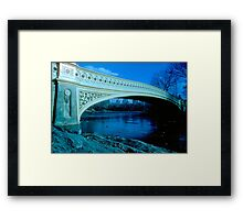 Bow Bridge Central Park NYC Framed Print