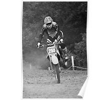 Dirt bike landing nose down Poster