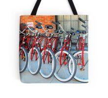 Red Bicycles Tote Bag