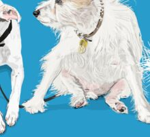 Three White Dogs Sticker