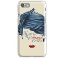 blue is my warmest color iPhone Case/Skin