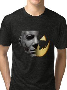 Halloween 6 Michael Myers/Pumpkin Shirt Tri-blend T-Shirt