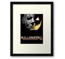 Halloween 6 Michael Myers/Pumpkin Shirt Framed Print