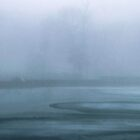 Ice Melting on Lake in Fog by Mary Ann Reilly