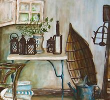 The Shabby Chic Garden Cottage I by Sonja Peacock