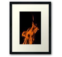Fire shapes Framed Print