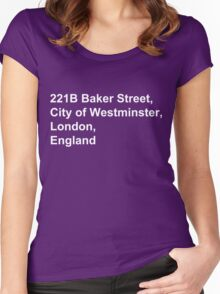 221B Baker Street Women's Fitted Scoop T-Shirt