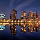 Southern Star (Melbourne's Observation Wheel) Across The Water by djzontheball