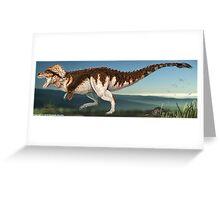 Tyrannosaurus Rex Finished Reconstruction Greeting Card
