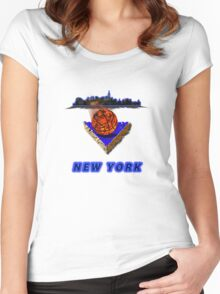 New York Premium T-Shirt and Stickers Women's Fitted Scoop T-Shirt