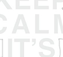Keep Calm Its Leg Day (White) Sticker