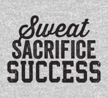 Sweat Sacrifice Success (Black) by Fitspire Apparel