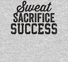Sweat Sacrifice Success (Black) Womens Fitted T-Shirt