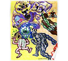 Psychedelic Super Battle Poster