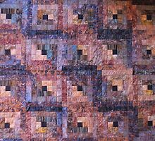 """Leafy"" Log Cabin Quilt by Jean Gregory  Evans"