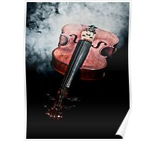 Smoking violin Poster