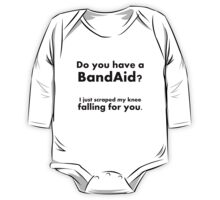 Pick Up Line T-Shirt: Do you have a bandaid? One Piece - Long Sleeve