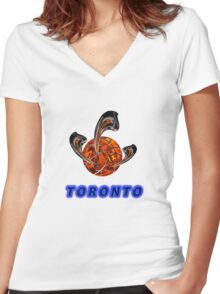 Toronto Premium t-shirts & stickers Women's Fitted V-Neck T-Shirt