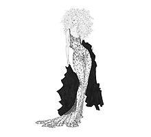 Fashion Illustration 'Lace' Fashion Art Photographic Print