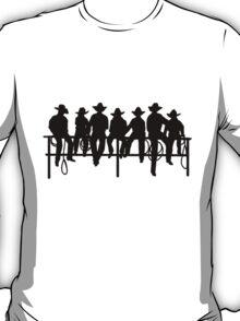 Cowboys on wood fence T-Shirt