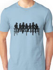 Cowboys on wood fence Unisex T-Shirt