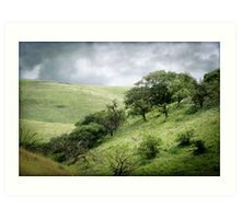 The Green, Green Hills of Home Art Print