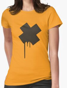 """DAFT - Cross"" Womens Fitted T-Shirt"