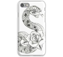 Tattoo Snake with Rose iPhone Case/Skin
