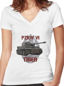 PZKW VI Tiger Women's Fitted V-Neck T-Shirt