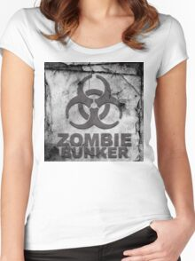 Zombie Bunker Women's Fitted Scoop T-Shirt