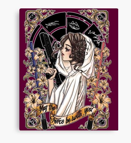 The force of the Princess Leia Canvas Print