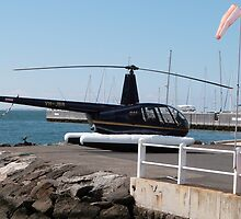 Helicopter for Joy Flights, Geelong Waterfront. Victoria. Aust. by Rita Blom