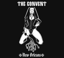 The Convent New Orleans BLACK T-Shirt by Robert Tritthardt