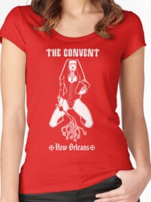 The Convent New Orleans BLACK T-Shirt Women's Fitted Scoop T-Shirt