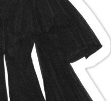Fashion Illustration 'Black Bow Dress' Fashion Art Sticker